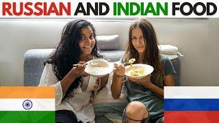 Indians try Russian Food   Soup with soda water